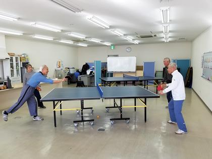 「交流サロン 卓球」の画像